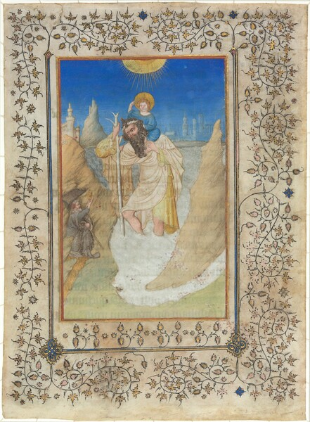 Saint Christopher Carrying the Christ Child