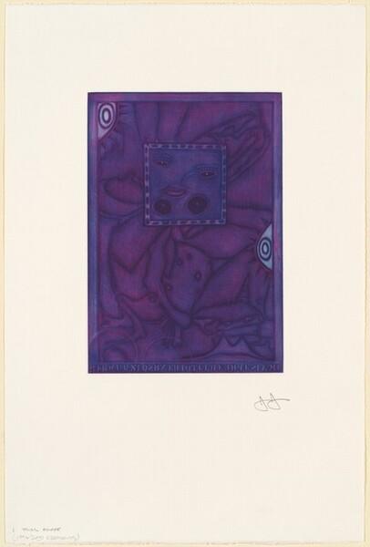 Untitled (Purple Mezzotint) [trial proof I]
