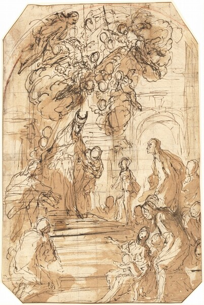 Presentation of the Virgin in the Temple [recto]