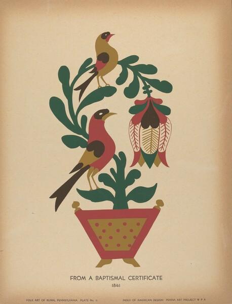 Plate 12: From the Portfolio Folk Art of Rural Pennsylvania