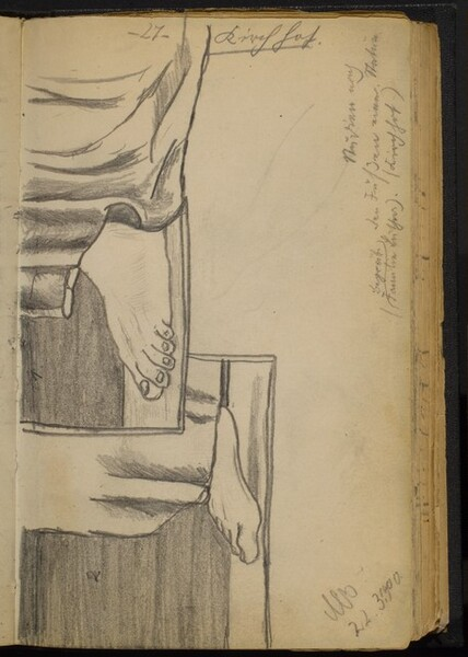 Two Studies of Feet with Drapery