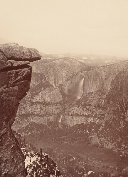 The Yosemite Falls, from Glacier Point