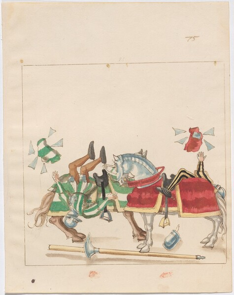 Freydal, The Book of Jousts and Tournaments of Emperor Maximilian I: Combats on Horseback (Jousts)(Volume I): Plate 67