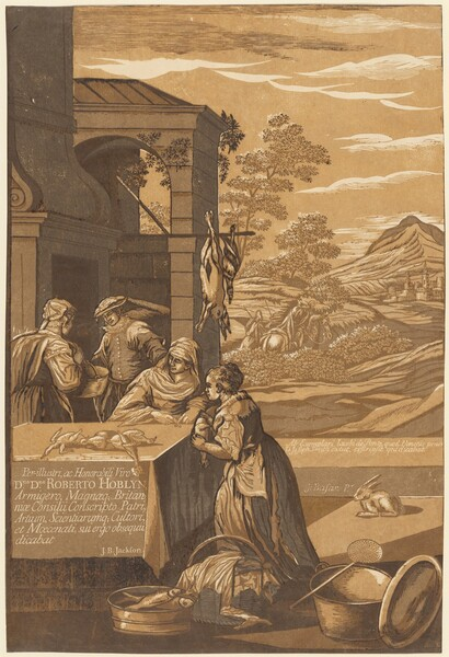 Dives and Lazarus (Left Panel)