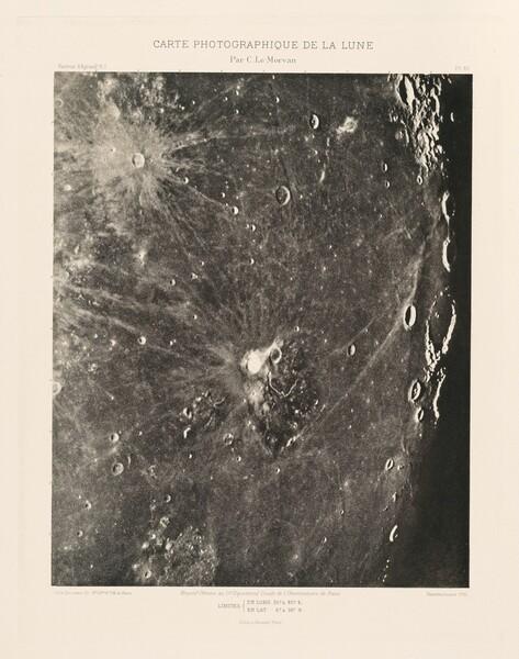 Carte photographique de la lune, planche XV (Photographic Chart of the Moon, plate XV)