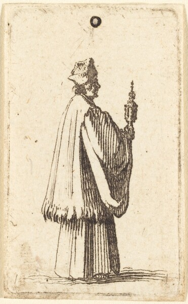 Priest Carrying the Holy Sacrament of the Eucharist