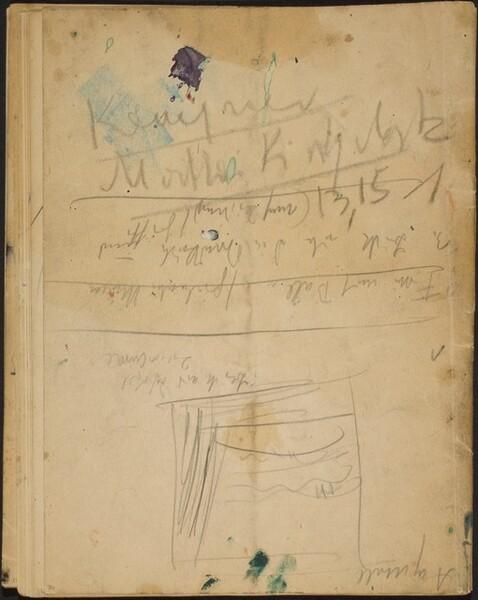 Skizze und Notizen (Sketch with Notations) [p. 36]