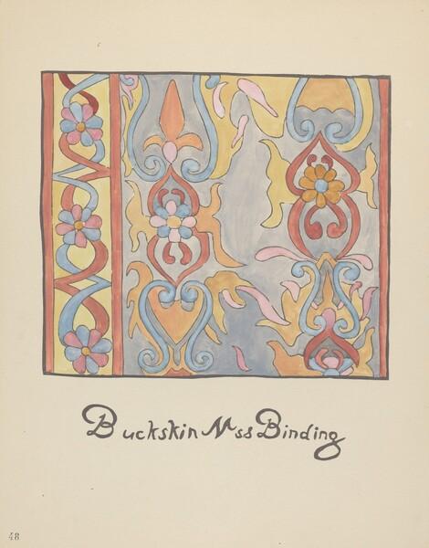 Plate 48: Buckskin Design: From Portfolio Spanish Colonial Designs of New Mexico