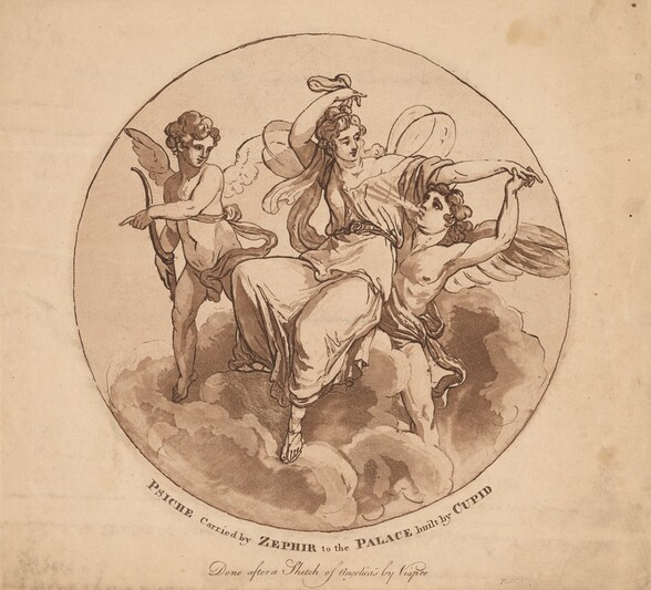 Psyche Carried by Zephyr to the Palace Built by Cupid