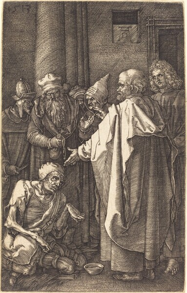 Saint Peter and Saint John Healing a Cripple at the Gate of the Temple