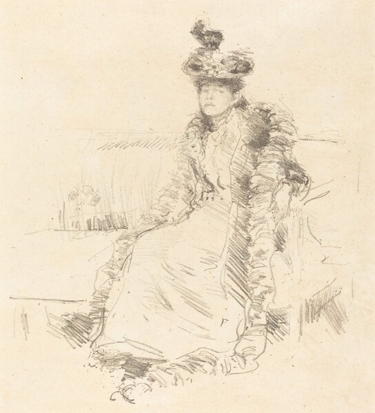 A Lady Seated