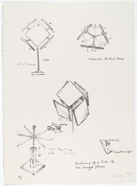 George Rickey, Anatomy of a Cube of Six Hinged Planes, 19701970