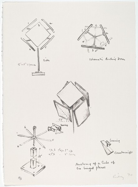 Anatomy of a Cube of Six Hinged Planes