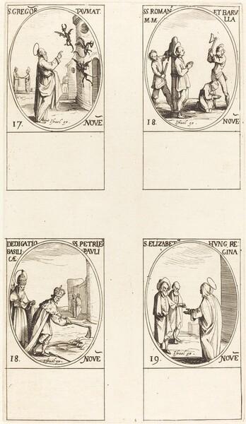 St. Gregory; Sts. Romanus & Barulla; Dedication of the Basilicas of SS. Peter & Paul;