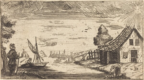 Landscape with Figure and Boat