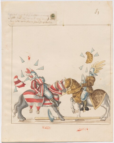 Freydal, The Book of Jousts and Tournaments of Emperor Maximilian I: Combats on Horseback (Jousts)(Volume I): Plate 74