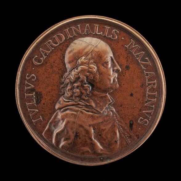 Cardinal Jules Mazarin, 1602-1661, Prime Minister of France 1643 [obverse]