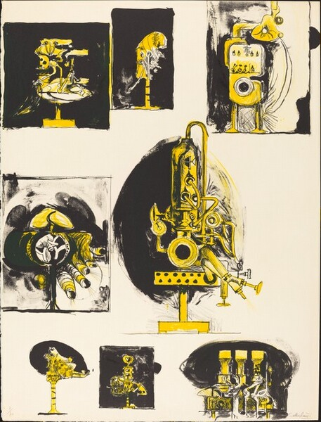 Sheet of Studies (comparisons: organic and machine forms)