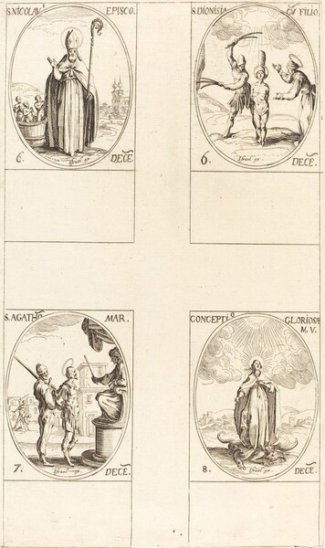 St. Nicholas; St. Dionisia and Son; St. Agatha; Conception of the Virgin