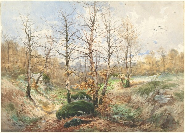 Autumn Landscape in the Forest of Fontainebleau