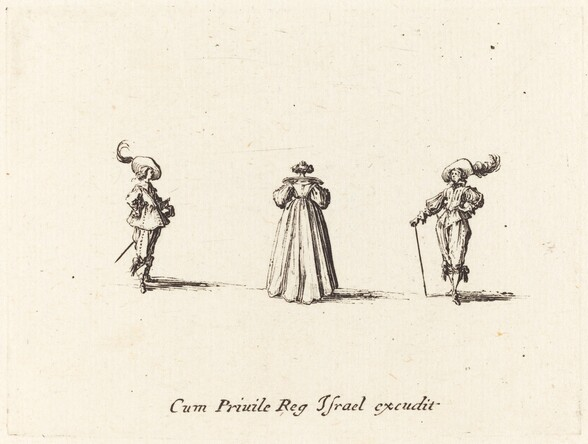 Lady Seen from Behind, and Two Gentlemen