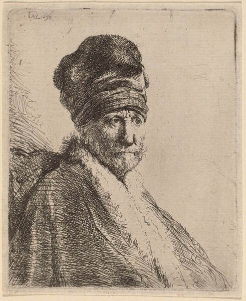 Bust of a Man Wearing a High Cap, Three-Quarters Right (The Artist