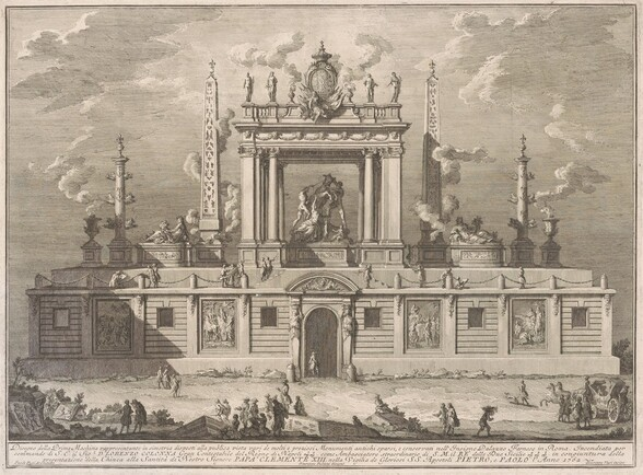 The Prima Macchina for the Chinea of 1762: The Farnese Bull and Other Antiquities from Palazzo Farnese