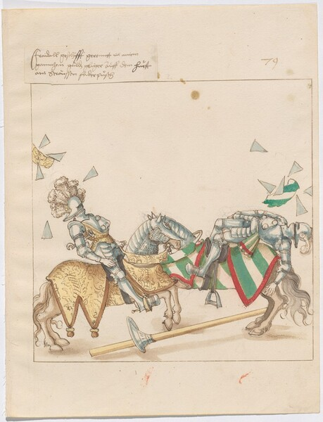 Freydal, The Book of Jousts and Tournaments of Emperor Maximilian I: Combats on Horseback (Jousts)(Volume I): Plate 71