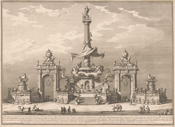 The Seconda Macchina for the Chinea of 1752: The Banquet of the Gods in Villa Carl