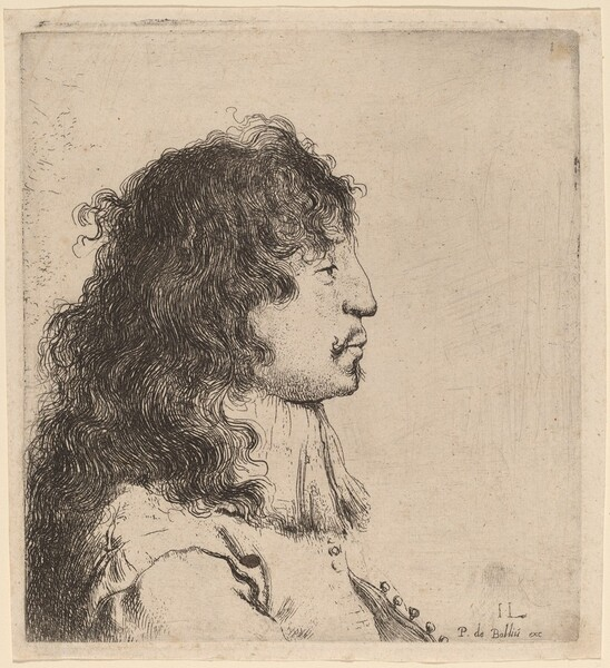 Bust of a Young Man in Profile, Facing Right