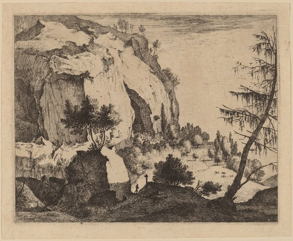 Rocky Landscape with Fir: pl.4