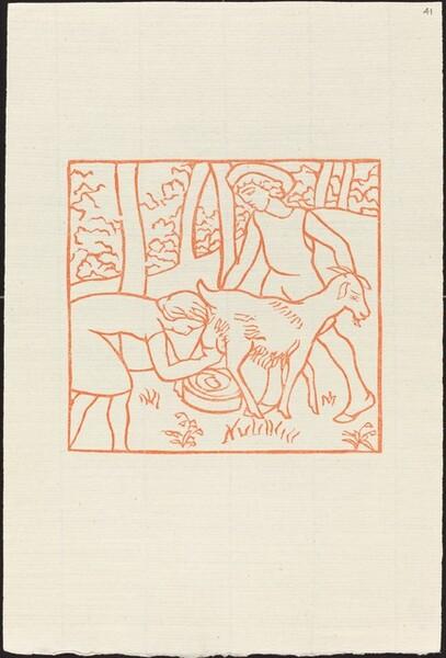 Fourth Book: Chloe Helps Daphnis with His Goats (Chloe trait une chevre de Daphnis)