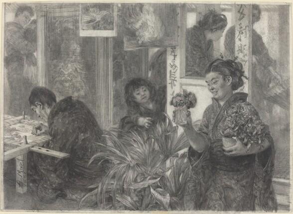 Japanese Artist at Work