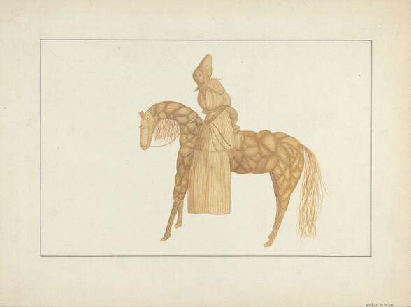 Corn Husk Doll on Horse