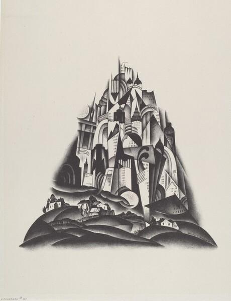 Lithograph #41 (Visionary City)