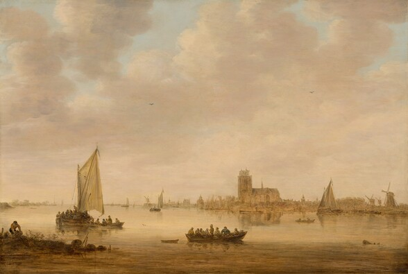 View of Dordrecht from the Dordtse Kil