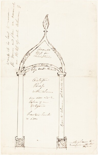 Sketch of Octagon Recess with Columns