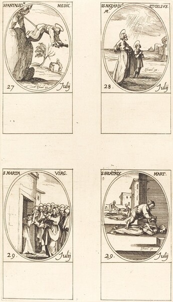 St. Pantaleon; Sts. Nazarius and Celsus; St. Martha; St. Beatrice