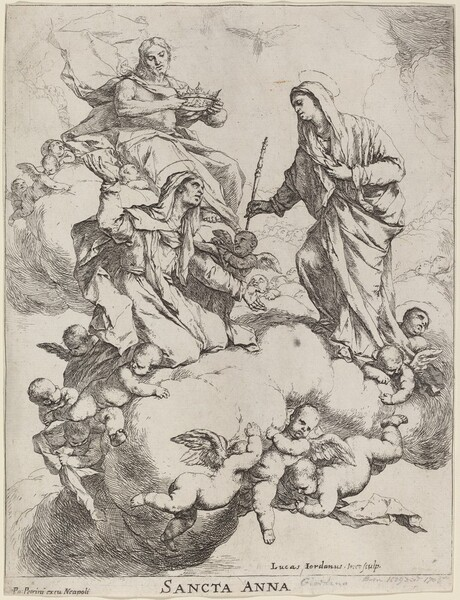 Saint Anne Received by the Virgin and Christ