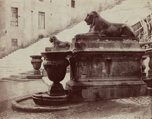 Lion Fountains at the base of the Capitoline Ramp, Rome