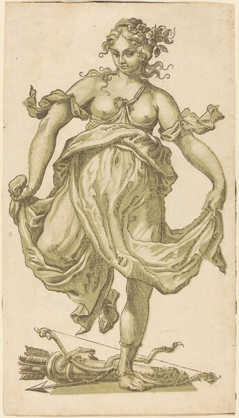 Dancing Nymph with Bow and Arrows