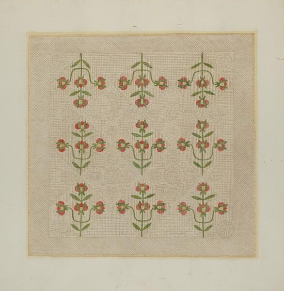 Quilt - Tulip Pattern
