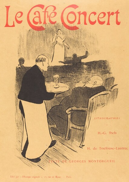 Le cafe concert: Illustrated Cover