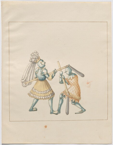 Freydal, The Book of Jousts and Tournament of Emperor Maximilian I: Combats on Foot (Jousts)(Volume III): Plate 128
