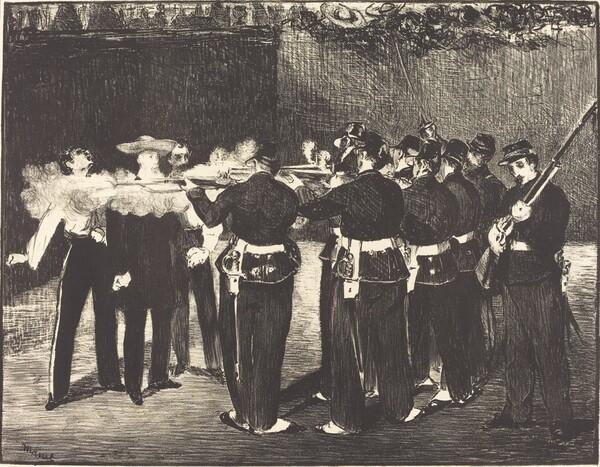 Death of Maximilian at Queretaro (L