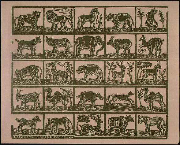 Endpaper with Animals