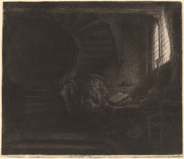 Saint Jerome in a Dark Chamber