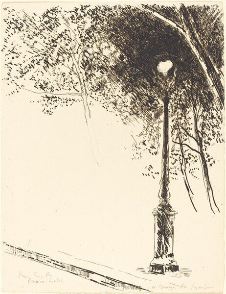 Arc Lamp - Sidewalk, Boulevard Sebastopol  (La lampe a arc - le trottoir, Boulevard S