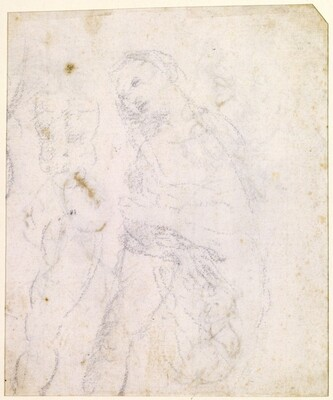 Leonardo da Vinci, Study of a Madonna [verso], probably 1470/1480