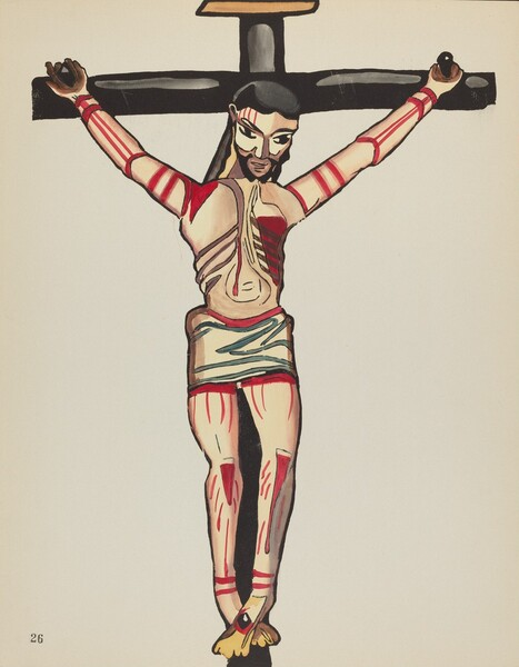 Plate 26: Christ Crucified: From Portfolio Spanish Colonial Designs of New Mexico